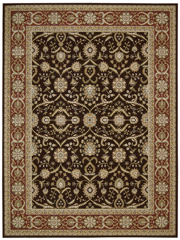 Nourison Persian Crown PC001 Dark Brown Machine Woven Area Rug