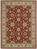 Nourison Persian Crown PC002 Red Machine Woven Area Rug