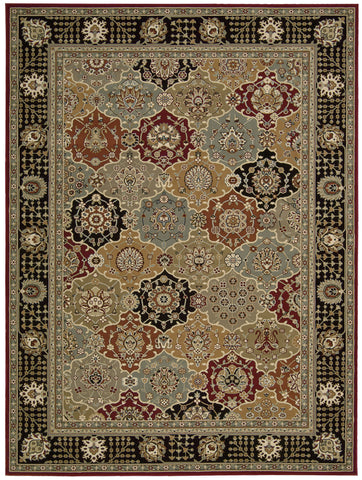 Nourison Persian Crown PC004 Black Machine Woven Area Rug