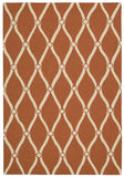 Nourison Portico POR02 Orange Hand Tufted Area Rug