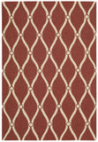 Nourison Portico POR02 Red Hand Tufted Area Rug