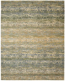 Nourison Rhapsody RH003 Beige Blue Machine Woven Area Rug