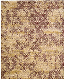 Nourison Rhapsody RH005 Gold Garnet Machine Woven Area Rug