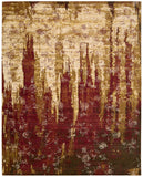 Nourison Rhapsody RH006 Gold Garnet Machine Woven Area Rug