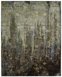 Nourison Rhapsody RH006 Seaglass Machine Woven Area Rug