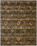 Nourison Rhapsody RH007 Ebony Machine Woven Area Rug