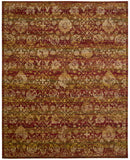 Nourison Rhapsody RH007 Sienna Gold Machine Woven Area Rug