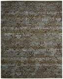 Nourison Rhapsody RH009 Blue Moss Machine Woven Area Rug