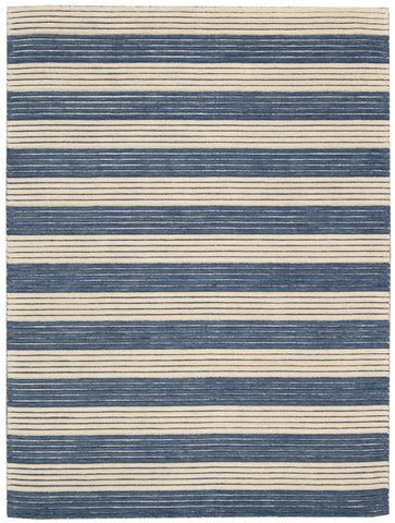 Nourison Ripple RIP02 Midnight Blue Hand Woven Area Rug by Barclay Butera