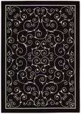 Nourison Home and Garden RS019 Black Area Rug