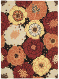 Nourison Home and Garden RS021 Black Area Rug