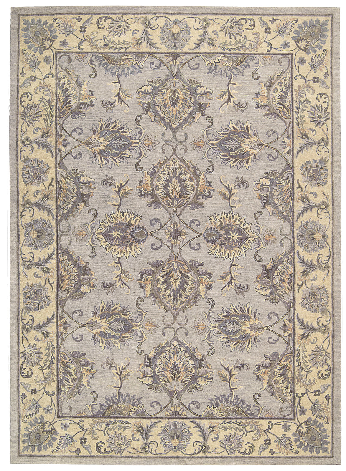 Nourison Sepia SEP01 Grey/Ivory Area Rug by Joseph Abboud main image