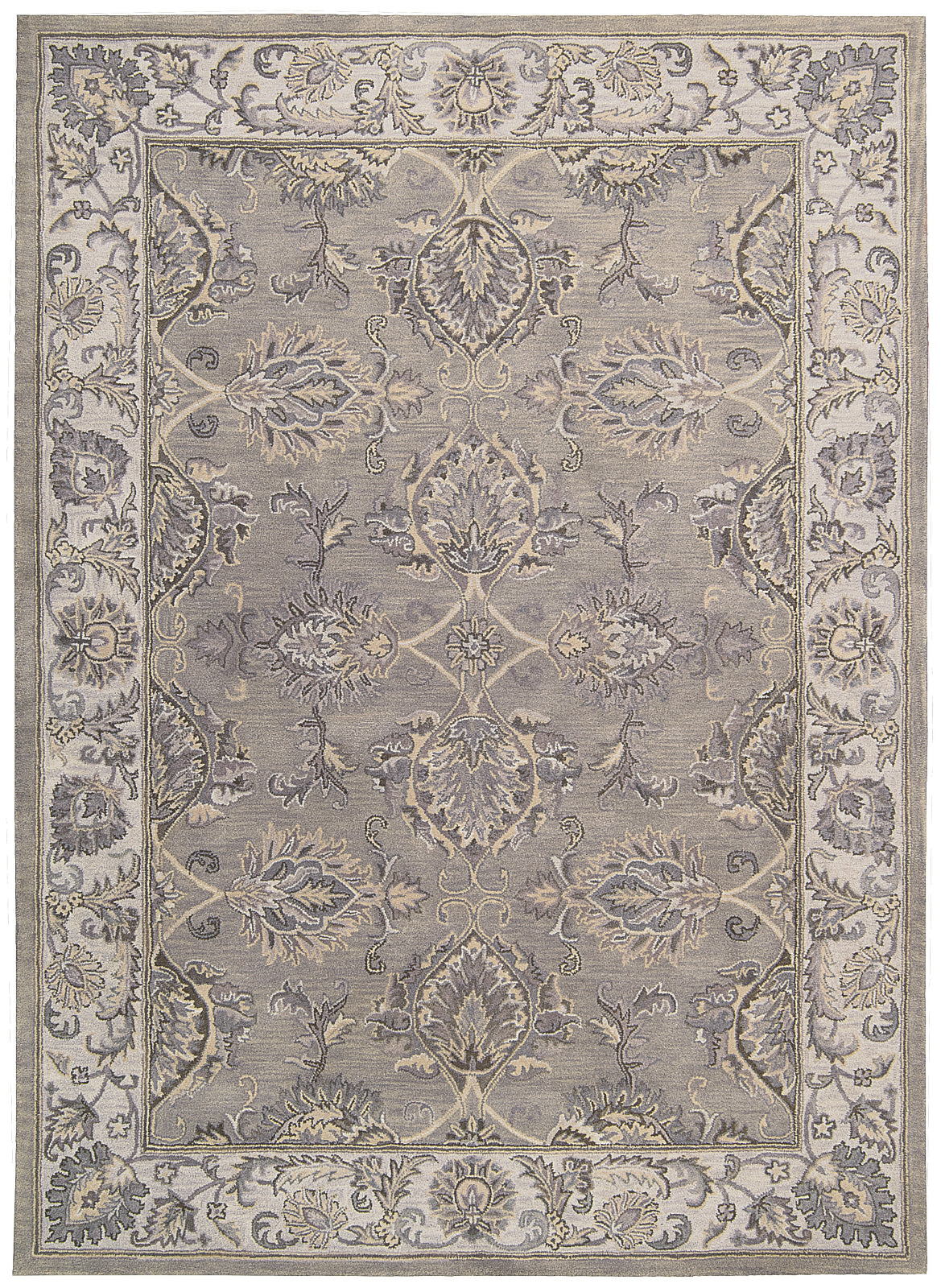 Nourison Sepia SEP01 Grey/Silver Area Rug by Joseph Abboud main image