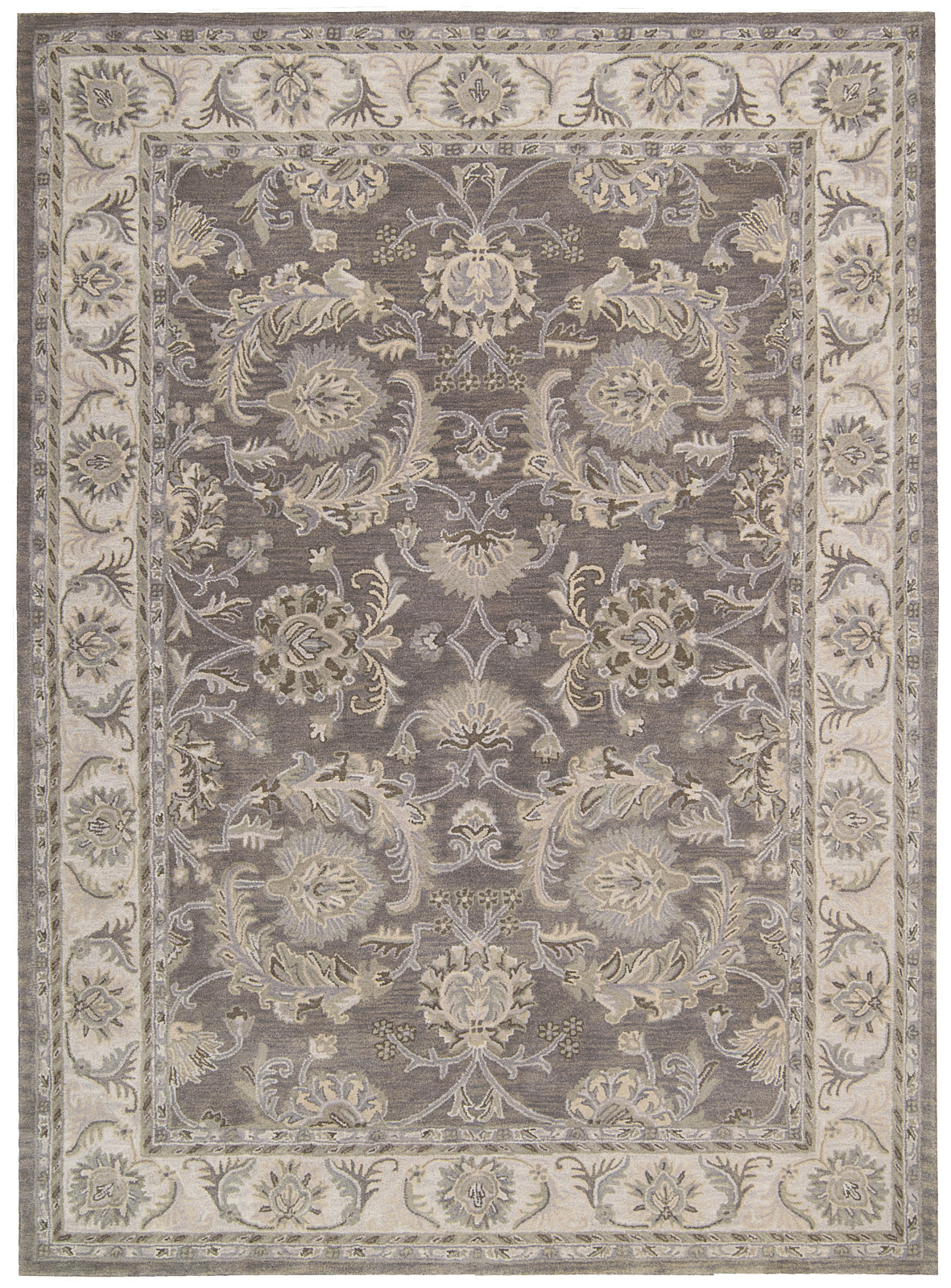 Nourison Sepia SEP05 Grey Area Rug by Joseph Abboud main image
