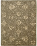 Nourison Silken Allure SLK08 Chocolate Machine Woven Area Rug