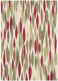Nourison Sun and Shade SND01 Bits Pieces Blossom Machine Woven Area Rug by Waverly