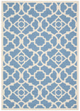 Nourison Sun and Shade SND04 Lovely Lattice Azure Machine Woven Area Rug by Waverly
