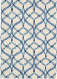 Nourison Sun and Shade SND05 Izmir Ikat Aegean Machine Woven Area Rug by Waverly
