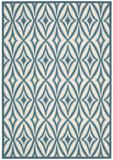 Nourison Sun and Shade SND19 Centro Azure Machine Woven Area Rug by Waverly