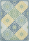 Nourison Sun and Shade SND23 Sweet Things Marine Machine Woven Area Rug by Waverly