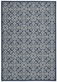 Nourison Sun and Shade SND31 Lace It Up Navy Machine Woven Area Rug by Waverly