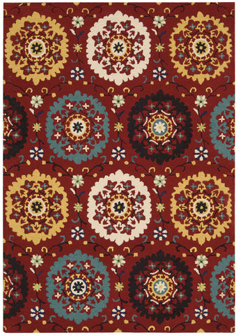 Nourison Suzani SUZ01 Red Hand Tufted Area Rug