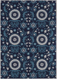 Nourison Suzani SUZ07 Navy Hand Tufted Area Rug