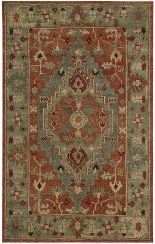 Nourison Tahoe TA01 Rust Hand Knotted Area Rug