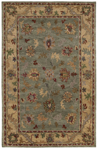 Nourison Tahoe TA03 Green Hand Knotted Area Rug