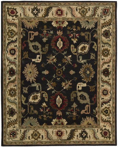 Nourison Tahoe TA08 Black Hand Knotted Area Rug