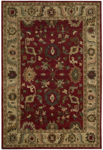 Nourison Tahoe TA08 Red Hand Knotted Area Rug