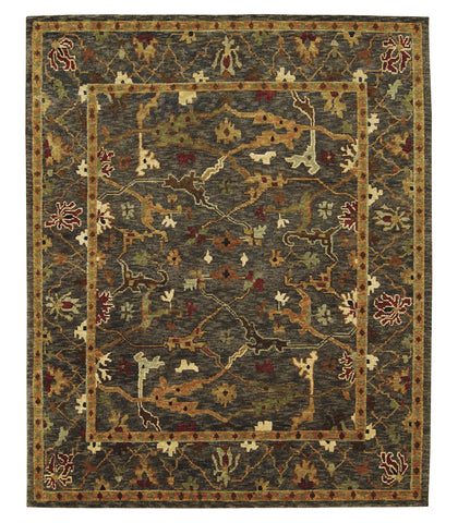 Nourison Tahoe TA09 Charcoal Hand Knotted Area Rug
