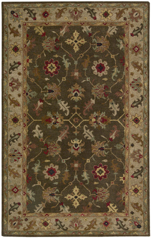 Nourison Tahoe TA10 Espresso Hand Knotted Area Rug