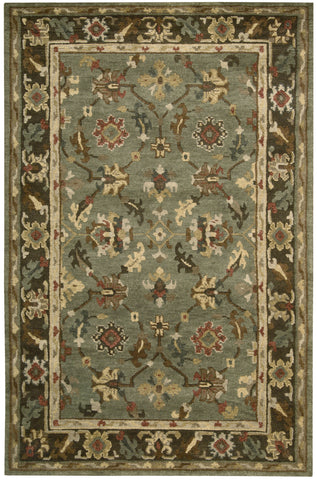 Nourison Tahoe TA10 Green Hand Knotted Area Rug