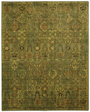 Nourison Timeless TML11 Green Gold Machine Woven Area Rug