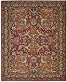 Nourison Timeless TML15 Red Machine Woven Area Rug