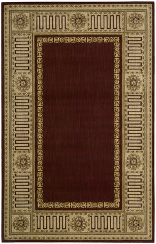 Nourison Vallencierre VA17 Burgundy Machine Woven Area Rug