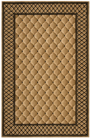 Nourison Vallencierre VA26 Beige Machine Woven Area Rug