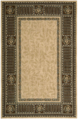 Nourison Vallencierre VA27 Beige Machine Woven Area Rug