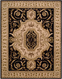Nourison Versailles Palace VP14 Black Hand Tufted Area Rug