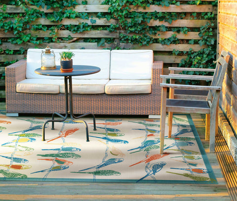 Nourison Wav01/Sun and Shade SND52 Multicolor Area Rug by Waverly main image