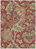 Nourison Global Awakening WGA01 Imperial Dress Garnet Machine Woven Area Rug by Waverly