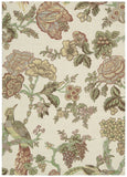 Nourison Global Awakening WGA05 Casablanca Rose Pear Machine Woven Area Rug by Waverly