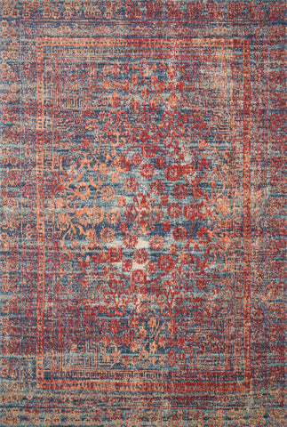 Loloi II Nour NU-05 Red/Navy Area Rug main image