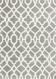 KAS Oasis 1653 Grey/Ivory Ironwork Machine Woven Area Rug