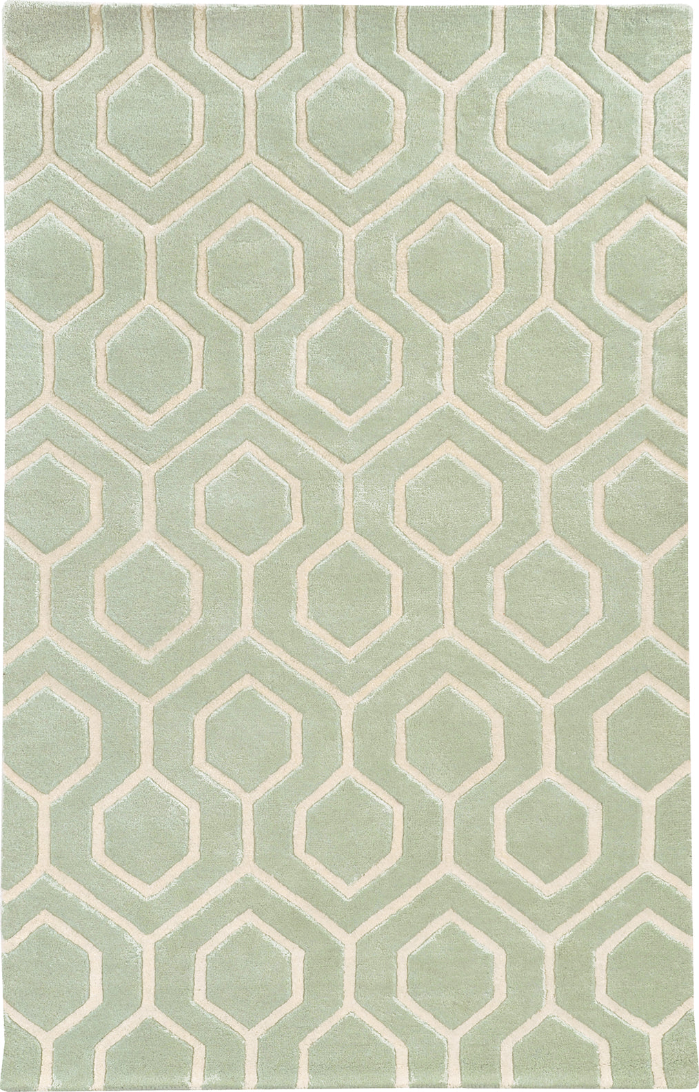 Pantone Universe Optic 41106 Green/Ivory Area Rug main image