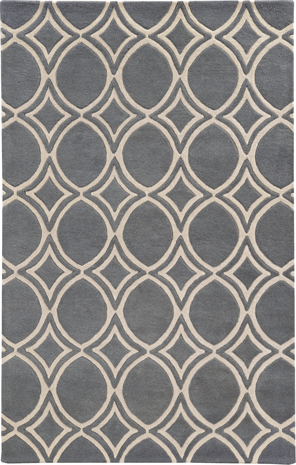 Pantone Universe Optic 41107 Charcoal/Ivory Area Rug main image