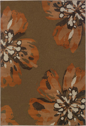 Oriental Weavers Adrienne 4130C Brown/Orange Area Rug main image