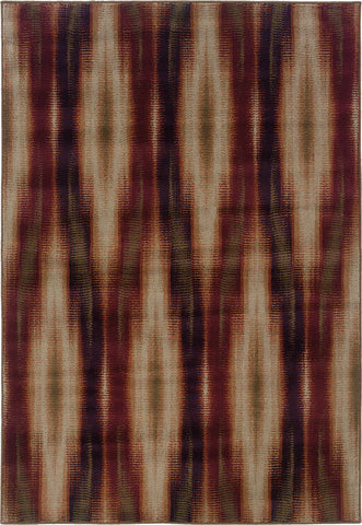 Oriental Weavers Adrienne 4193B Stone/Red Area Rug main image