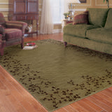 Oriental Weavers Allure 004E1 Green/Brown Area Rug Roomshot
